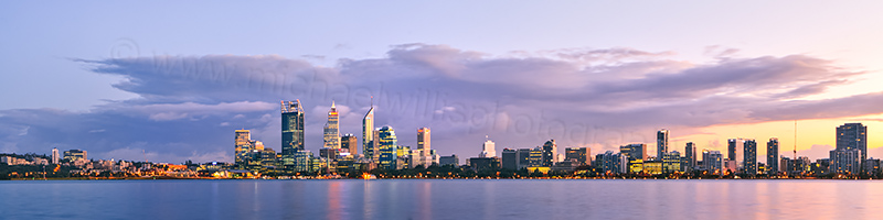 Perth and the Swan River at Sunrise, 8th June 2012