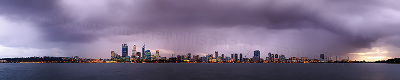 Perth and the Swan River at Sunrise, 12th June 2012
