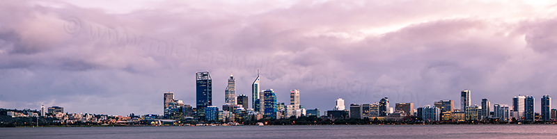 Perth and the Swan River at Sunrise, 13th June 2012