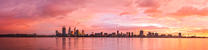 Perth and the Swan River at Sunrise, 19th June 2012