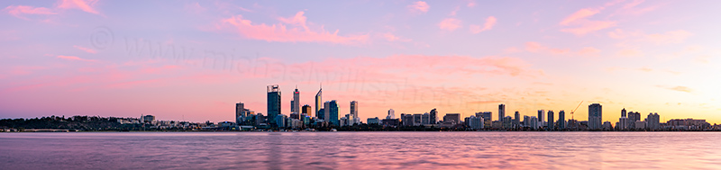 Perth and the Swan River at Sunrise, 2nd July 2012