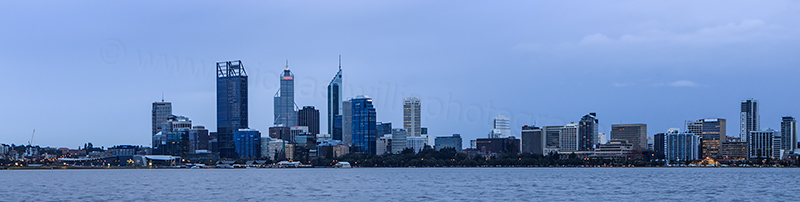 Perth and the Swan River at Sunrise, 10th July 2012