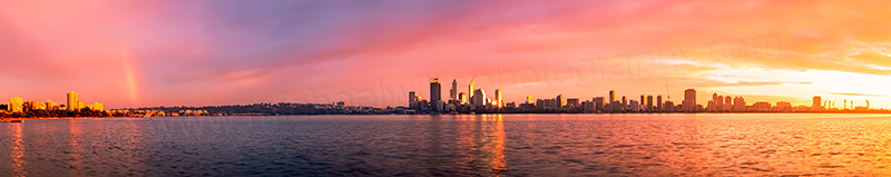Perth and the Swan River at Sunrise, 13th July 2012