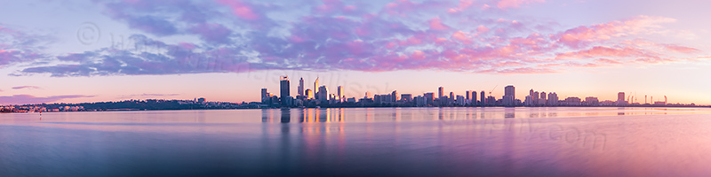 Perth and the Swan River at Sunrise, 14th July 2012