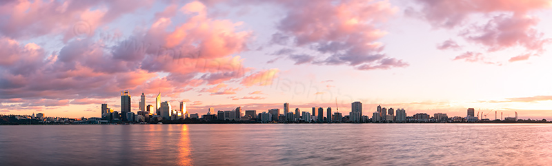 Perth and the Swan River at Sunrise, 16th July 2012