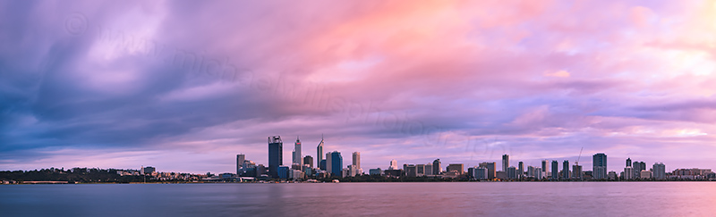 Perth and the Swan River at Sunrise, 5th August 2012