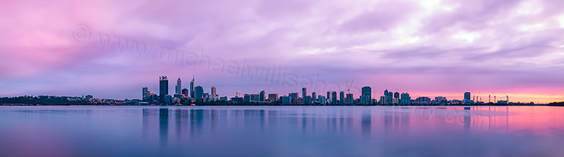 Perth and the Swan River at Sunrise, 15th August 2012
