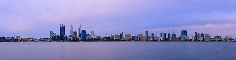 Perth and the Swan River at Sunrise, 17th August 2012