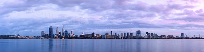 Perth and the Swan River at Sunrise, 29th August 2012