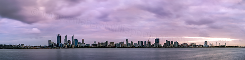 Perth and the Swan River at Sunrise, 5th September 2012