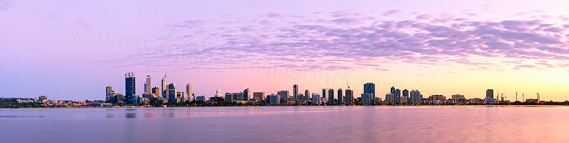 Perth and the Swan River at Sunrise, 9th September 2012