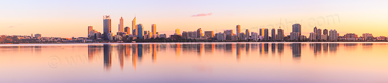 Perth and the Swan River at Sunrise, 12th September 2012
