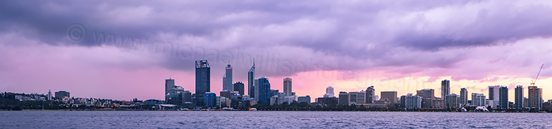 Perth and the Swan River at Sunrise, 20th September 2012