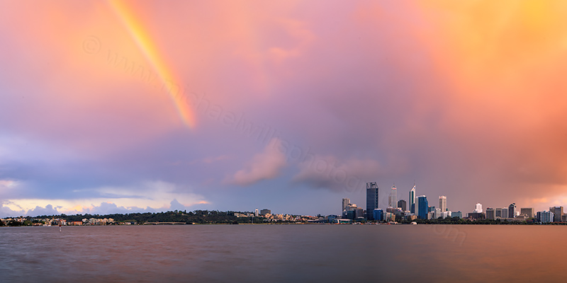 Perth and the Swan River at Sunrise, 22nd September 2012