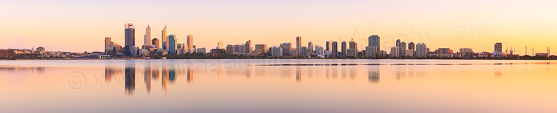 Perth and the Swan River at Sunrise, 23rd September 2012