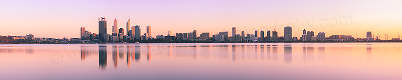 Perth and the Swan River at Sunrise, 24th September 2012