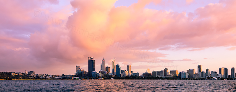 Perth and the Swan River at Sunrise, 26th September 2012