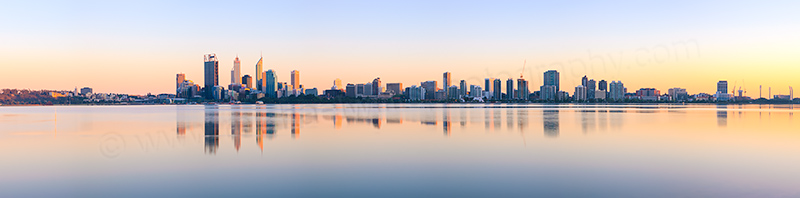 Perth and the Swan River at Sunrise, 29th September 2012