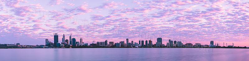 Perth and the Swan River at Sunrise, 2nd October 2012