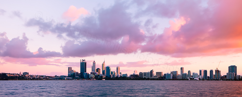 Perth and the Swan River at Sunrise, 3rd October 2012