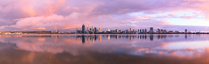 Perth and the Swan River at Sunrise, 4th October 2012
