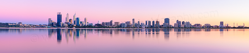 Perth and the Swan River at Sunrise, 5th October 2012