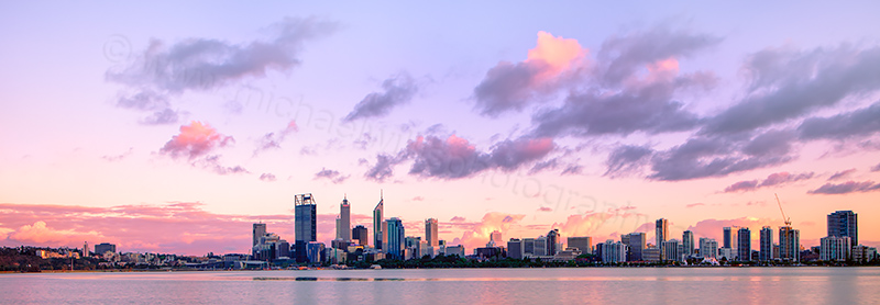Perth and the Swan River at Sunrise, 7th October 2012