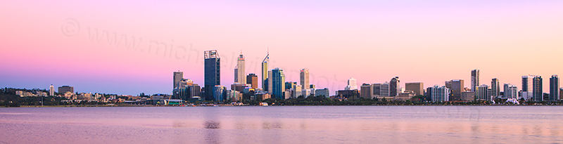 Perth and the Swan River at Sunrise, 9th October 2012