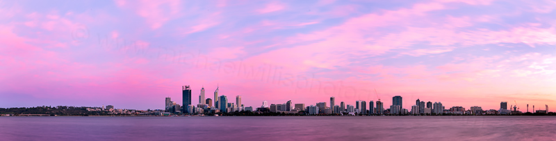 Perth and the Swan River at Sunrise, 10th October 2012