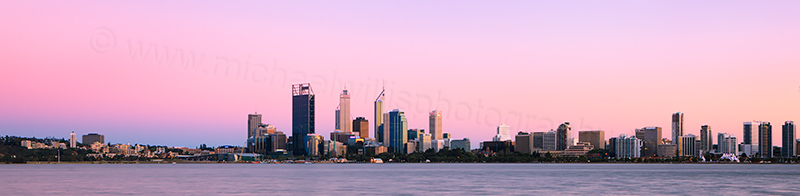 Perth and the Swan River at Sunrise, 11th October 2012
