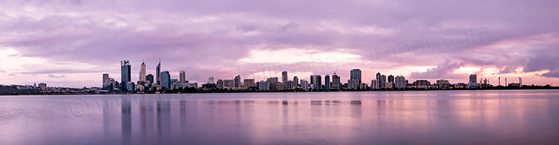 Perth and the Swan River at Sunrise, 15th October 2012