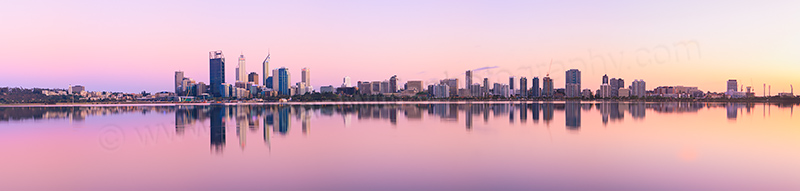 Perth and the Swan River at Sunrise, 16th October 2012