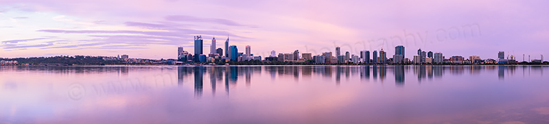Perth and the Swan River at Sunrise, 17th October 2012