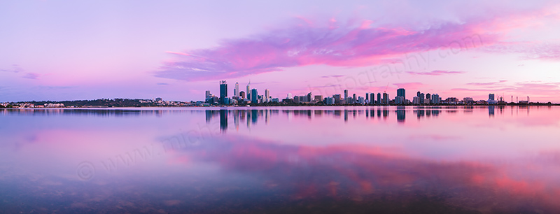 Perth and the Swan River at Sunrise, 20th October 2012