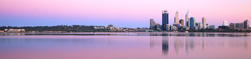 Perth and the Swan River at Sunrise, 21st October 2012