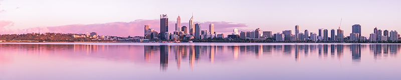 Perth and the Swan River at Sunrise, 23rd October 2012