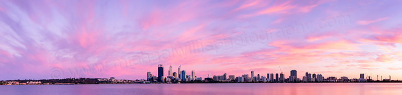 Perth and the Swan River at Sunrise, 24th October 2012