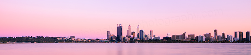 Perth and the Swan River at Sunrise, 26th October 2012