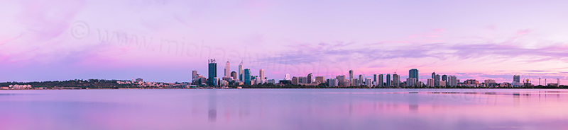 Perth and the Swan River at Sunrise, 30th October 2012