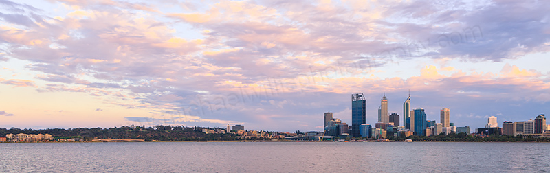 Perth and the Swan River at Sunrise, 1st November 2012
