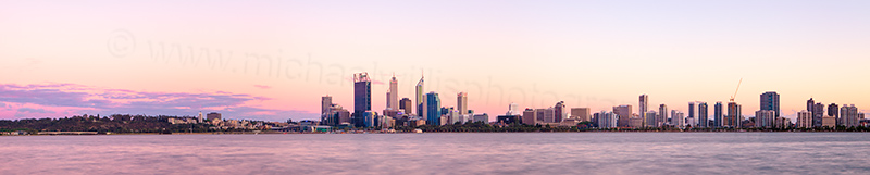 Perth and the Swan River at Sunrise, 3rd November 2012