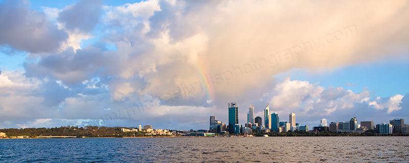 Perth and the Swan River at Sunrise, 5th November 2012