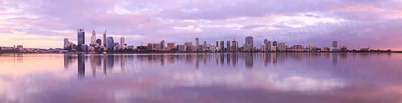Perth and the Swan River at Sunrise, 6th November 2012