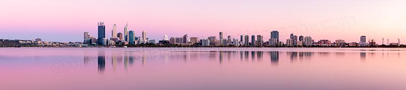 Perth and the Swan River at Sunrise, 8th November 2012