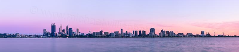 Perth and the Swan River at Sunrise, 9th November 2012