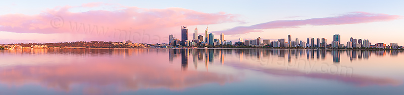 Perth and the Swan River at Sunrise, 11th November 2012