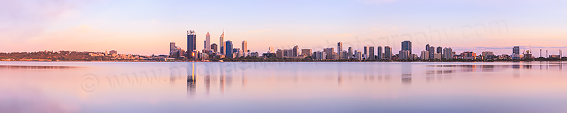 Perth and the Swan River at Sunrise, 14th November 2012