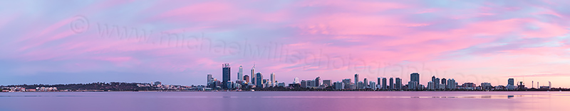 Perth and the Swan River at Sunrise, 16th November 2012