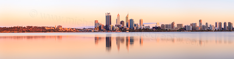 Perth and the Swan River at Sunrise, 25th November 2012