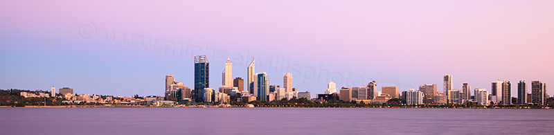 Perth and the Swan River at Sunrise, 26th November 2012